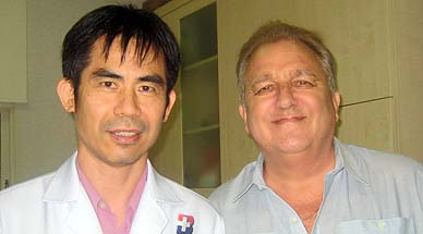 With Dr Pornchai, ace gall bladder remover, June 2008