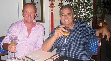 'Dinner with Danny Rampling, Pattaya,  August, 2008.